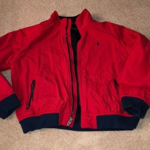 Red polo coat